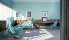 Arne Jacobsen's room nr. 606 Radisson Hotel, Copenhagen [928 x 550] : DesignPorn