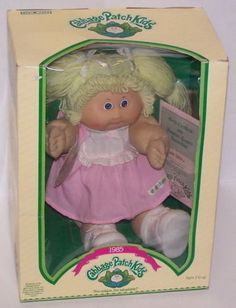 Cabbage Patch Kids Blonde Hair Girl Doll Iris Trista 1985 Vintage Coleco #COLECO #CABBAGEPATCHKIDS