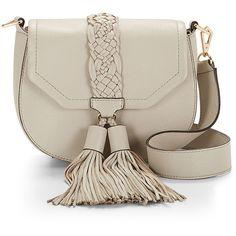 Rebecca Minkoff Isobel Saddle Bag (1.310 BRL) ❤ liked on Polyvore featuring bags, handbags, shoulder bags, flap crossbody, shoulder sling bag, crossbody purse, crossbody handbags and brown handbags