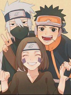 L'équipe de Minato: Kakashi, Linh et Obito - Naruto Naruto Uzumaki Shippuden, Naruto Kakashi, Naruto Teams, Naruto Sasuke Sakura, Naruto Cute, Hinata, Gaara, Boruto, Naruto Shippuden Characters
