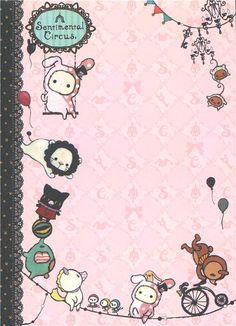 kawaii Memo Pad Sentimental Circus rabbit du Japon4