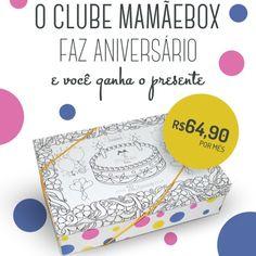 Caixinha linda e interativa! Assinaturas até o dia 22/6 Garanta a sua! www.mamaebox.com.br  #mamaebox
