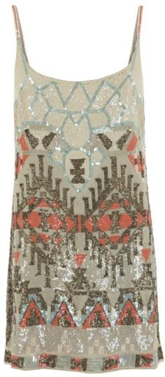 all saints aztec dress, suddenly into sequined dresses