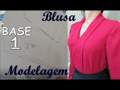 Base 1 e modelagem blusa de manga marsala/luciete Vasconcelos Atelier Sewing Basics, Sewing Hacks, Sewing Tutorials, Marsala, Best Lehenga Designs, Wedding Mehndi Designs, Blouse Batik, Stitching Dresses, Corset Pattern