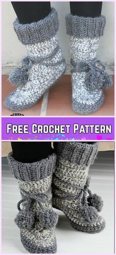 43 Trendy Crochet Slippers Adult Free Pattern Booties