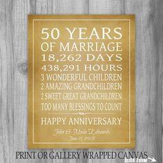 Personalized Milestone Anniversary plaque | Anniversary parties ...