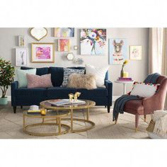 Get inspired by Glam Living Room Design photo by Room Ideas. Wayfair lets you find the designer products in the photo and get ideas from thousands of other Glam Living Room Design photos. Glam Living Room, Cozy Living Rooms, Living Room Sofa, Apartment Living, Living Room Furniture, Living Room Decor, Glam Room, Colorful Pillows, Room Wall Decor