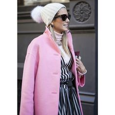 {fashion inspiration the pink coat} ❤ liked on Polyvore featuring outerwear and coats