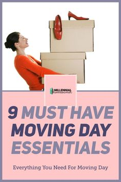 Wonder what moving day essentials you need? Get these 9 Must Have Moving Day Items and Moving Day Tips. They are the essential parts to having a great moving day experience into your first home. New Home Checklist, Moving Checklist, Home Buying Tips, Buying Your First Home, Moving Day, Moving Tips, First Time Home Buyers, Real Estate Tips, New Homeowner