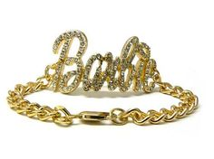 Iced Out NICKI MINAJ BARBIE Chain Bracelet Gold/Clear NYfashion101inc. $14.99. Save 46% Off!