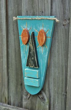 Tiki Mask Primitive Wall Hanging Tiki Man Wood by TheSavvyShopper1, $25.00