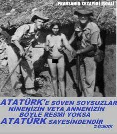 bumudur ATAMIZDAN rahatsızlık duymanız ey TÜRK düşmanları ninelerinizin BÖYLE RESİMLERİNE ENGEL olmasımıdır  Böyle istiyorlardı kızgınlıkları ..Türk düşmanlıkları ondan ...