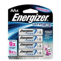Energizer - Ultimate Lithium AA Battery - Package of 4