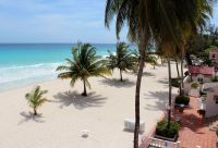 Beachfront for the lovely Southern Palms Resort Hotel in the St Lawrence Gap.