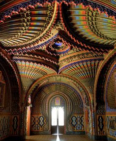 Peacock Room, located inside the abandoned Sammezzano Castle in Tuscany.