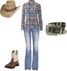 """Western Wear"" by jaldeanfan on Polyvore    love it all take the hat away for me please :)"