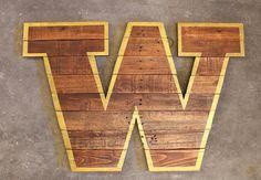"University of Washington ""W"", University of Washington, UW, UofW, UW Huskies, Washington Huskies, Washington Football, University of Washington Football, Washington State, Alumni Decor, University Decor, Dorm Room Ideas, Dorm room Decor"