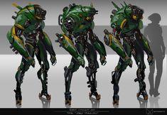 Robot Concept art / TOTAL advertising on Behance