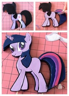 I want to make a small cake for Ambey! It would have Twilight Sparkle, (she's a scientist), and her-only-love-interest-I-could-find Flash - Tutorial: Twilight Sparkle's 2D topper