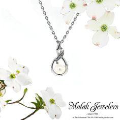 Pearls, pearls, pearls! We love June's birthstone. Diamond Jewelry, Gold Jewelry, Fine Jewelry, June Birth Stone, Jewelry Stores, Birthstones, Wedding Bands, Custom Design, Engagement Rings