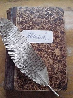 paper feathers as seen on creature comforts; make this into a 'quill pen' for fun journaling etc.