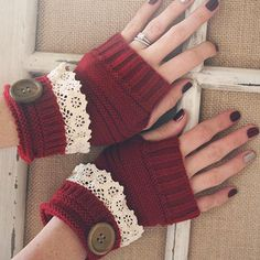 Cozy Hand Warmers in Red
