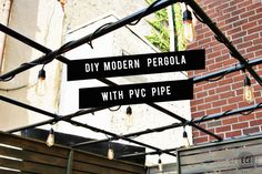 """Urban Patio DIY Makeover is part of Urban Patio Diy Makeover East Coast Creative I'm a suburban girl as in, I don't have an urban bone in my body Our crew on """"Knock It Off"""" are pretty much - Diy Pergola, Patio Diy, Small Pergola, Pergola Canopy, Pergola Attached To House, Metal Pergola, Deck With Pergola, Cheap Pergola, Wooden Pergola"""