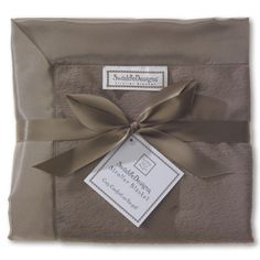 So incredibly soft! Baby Velvet Stroller Blanket in Taupe Gray. #Gift #PersonalizeIt Save 35% with promo code HOLIDAY35