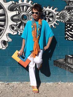 Over 40 Styleblazer Dorrie from Senior Style Bible in vibrant colors.
