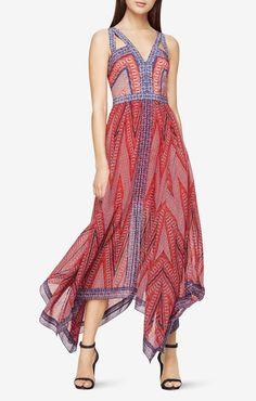 Aba Mosaic-Print Maxi Dress