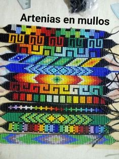 Bead Jewellery, Beaded Jewelry, Bead Loom Bracelets, Alpha Patterns, Loom Beading, Bracelet Patterns, Seed Beads, Sewing Leather, Beaded Bracelets
