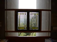 Pier cluster casement windows designed by Frank Lloyd Wright for the Darwin Martin House in Buffalo, NY.