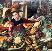 Market Woman With Vegetable Stall 1567  by Pieter Aertsen