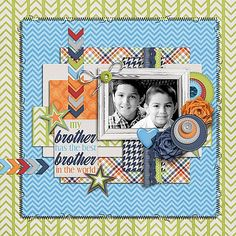 Layout: I Love My Brother by Meghan Mullens and Melissa Bennett