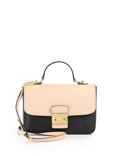Miu Miu - Two-Tone Leather Shoulder Bag