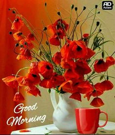 nice to see on your table with your morning coffee. Good Morning Beautiful Pictures, Good Morning Images Flowers, Good Morning Roses, Good Morning Cards, Good Morning Images Hd, Good Morning Coffee, Good Morning Picture, Good Morning Messages, Good Morning Greetings