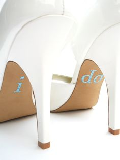 Just got some I do diamanté stickers for my wedding shoe