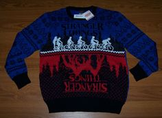 New Size XL Mens Ugly Christmas Sweater Box Lunch Netflix Stranger Things. mens ugly christmas sweater from top store Mens Ugly Christmas Sweater, Stranger Things Netflix, Being Ugly, Lunch Box, Store, Fashion, Moda, Fashion Styles, Larger