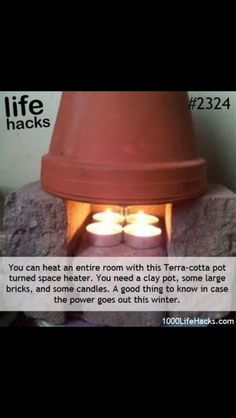 Need a heater? Try this neat life hack!