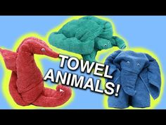 Animal Towels Step By Step Instructions Easy Video Tutorial