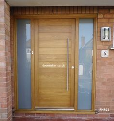 oak contemporary door