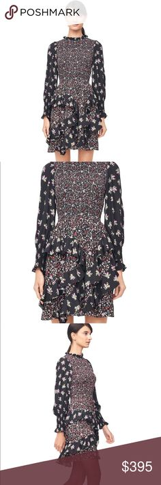 💯Silk Rebecca Taylor Printed Smock Dress NWT Brand new, flawless silk dress by Rebecca Taylor. 💯 authentic. Never worn and still has tags attached. The feel and movement of this dress is amazing. Please see last two pics for specs. This dress was on sale on the Rebecca Taylor website for $419, originally $695, so this is a major steal. Perfect cocktail or party dress. Absolutely no trades. Size 0 but could also fit a size 2. Rebecca Taylor Dresses Mini