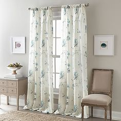 Delicate scattered flowers grace the soft look of this Zen Floral Semi-Sheer Window Curtain Panel. Its translucent base creates a breezy aesthetic, giving this window accent enough presence to stand on its own or layer behind heavier draperies.