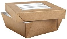 Packnwood Square Paper Box With Window Lid (Multple Sizes and Colors)