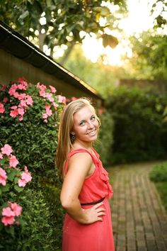 summer garden senior pictures