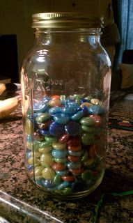 Counting down to weight loss? This jar will help! 30 Days to ...: My Jar of Rocks
