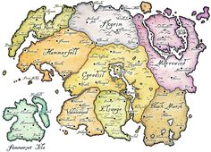 The Continent of Tamriel.    We've seen:  Hammerfell (ES 1- Daggerfall)  Morrowind ( ES 2 - Morrowind)  Cyrodill ( ES 3 -Oblivion)   Skyrim ( ES 4 - Skyrim )    Though, technically the 1st ES game was Arena, and that showed us all provinces.  Don't forget the Expansions, too - Tribunal, Bloodmoon, Shivering Isles & Knights of the Nine. I wonder what Skyrim's 1st expansion set will be!
