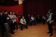Public speaking at Incubator 107...