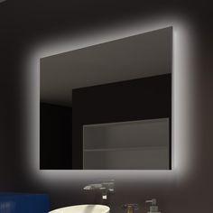Great Price Moumoune Backlit Bathroom/Vanity Mirror By Everly Quinn Bathroom Vanity, Bathroom Vanity Mirror, Mirrors Wayfair, Vanity, Modern Style Lights, Beautiful Mirrors, Mirror, Backlit Mirror, Bathroom