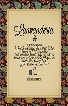VNF Lanvanderia Unicode ( facebook.com/ilovevietfont)